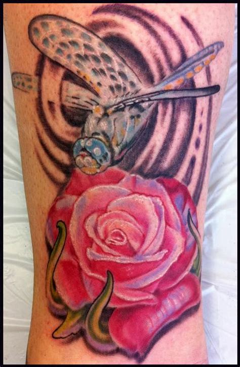 dragonfly and rose tattoo phil robertson s designs tattoonow