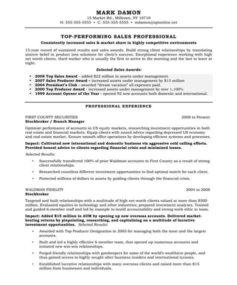 excellent resumes sles sales representative page1 marketing resume sles