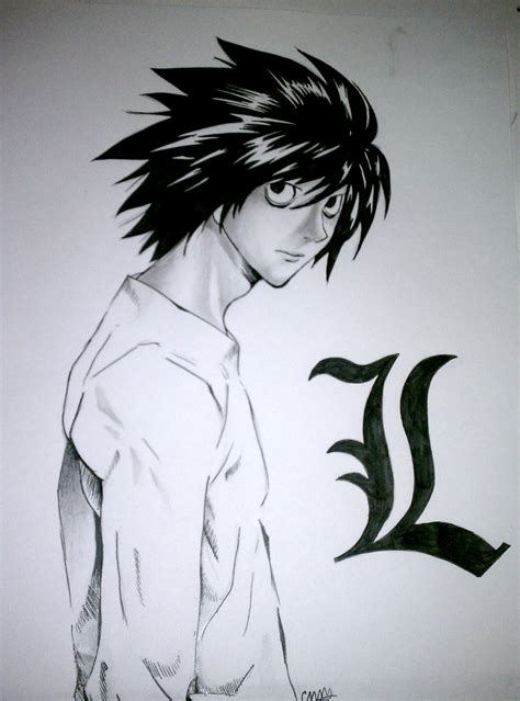 L Drawing by L Lawliet By 8thplanetfromthesun On Deviantart