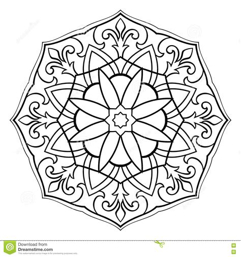 mandala coloring pages vector vector simple mandala stock vector image 77193117