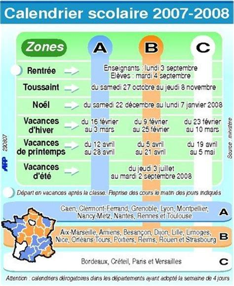 Calendrier Scolaire 2008 Le Calendrier Scolaire Pour L 233 E 2007 2008 Dossiers