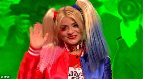 celebrity juice halloween special holly holly willoughby dresses up as harley quinn for celebrity