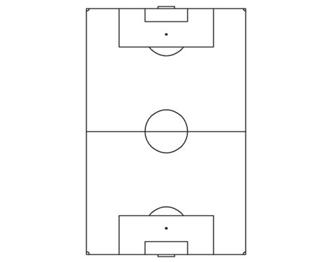 soccer pitch template end zone view association football pitch template