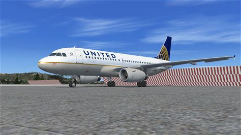united flight united airlines airbus a319 for fsx