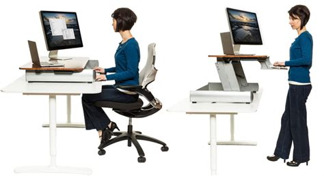 Elevating Desk Work Surface by Stand Up To Office Work The Bolt