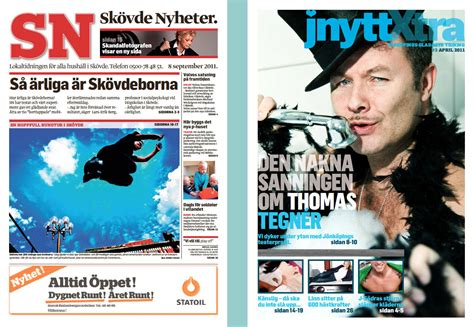 Skövde Nyheter Hallpressen Streamlining Newspaper Design Without
