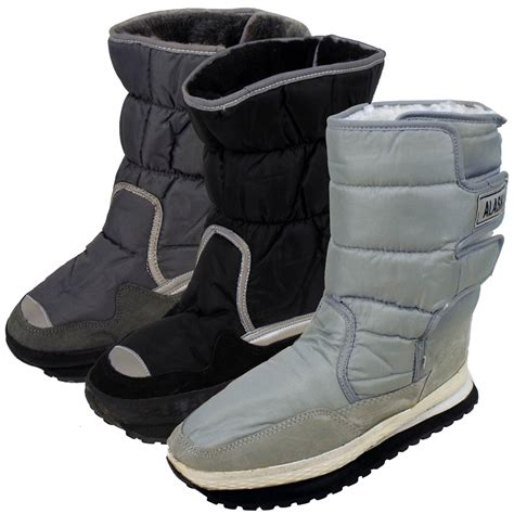 mens moon boots new mens shearling snow quilted thermal winter warm boot