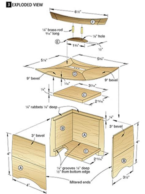 wood jewelry box blueprints easy balsa wood glider