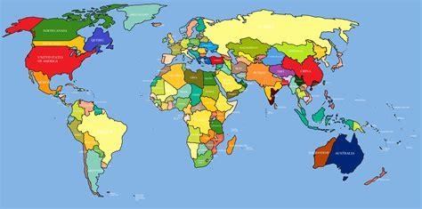 high definition world map  travel information