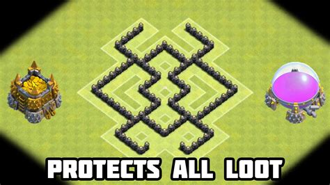 layout coc anti giant clash of clans th5 defense strategy best coc town hall 5