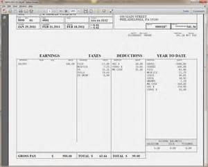 Payroll Check Stubs Template by Pay Check Stub Templatememo Templates Word Memo