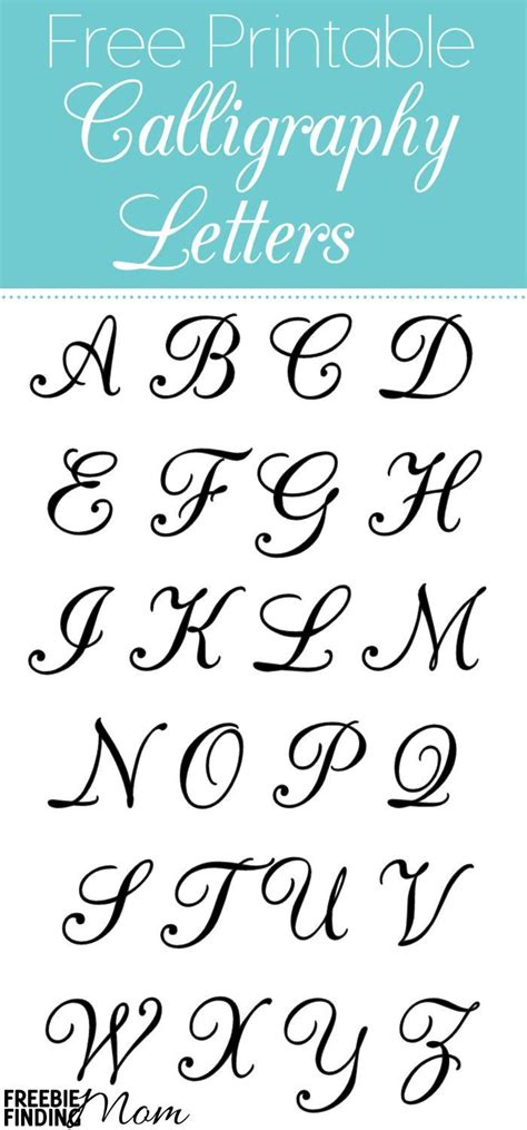 free printable fonts download free printable calligraphy letters calligraphy letters