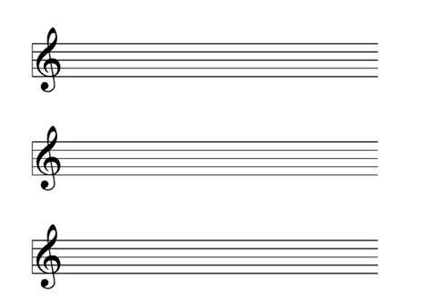 music manuscript paper in several staff sizes