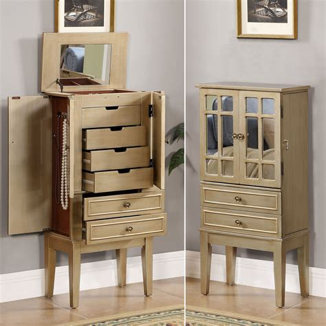 Gold Jewelry Armoire by Jacelyn Chagne Gold Jewelry Armoire Storage Cabinet