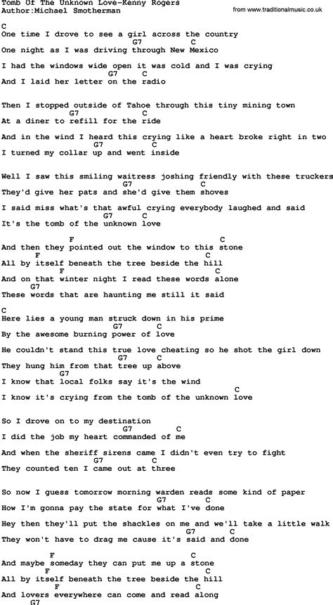 unknown lyrics country of the unknown kenny rogers lyrics