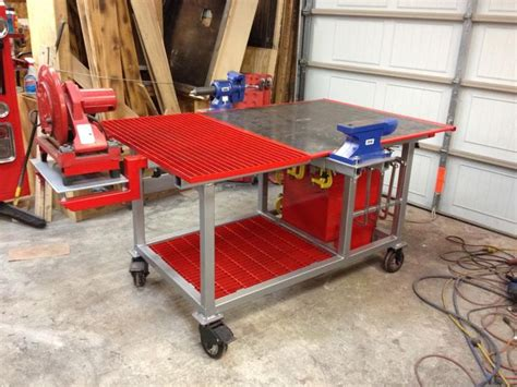 welding bench ideas welding table build powerstrokearmy tools pinterest