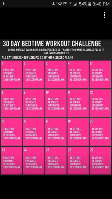 best 25 bedtime workout ideas 30 day workout challenges workout everydayentropy com