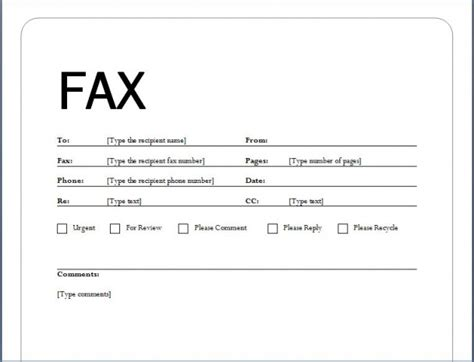 fax template word 2010 generous fax sheets templates images resume ideas