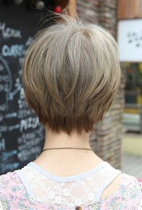 medium style hair with back a little shorter than sides pixie cuts for fine hair back view my style pinterest
