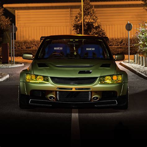 widebody evo mitsubishi evolution widebody kit by clinched fits evo7