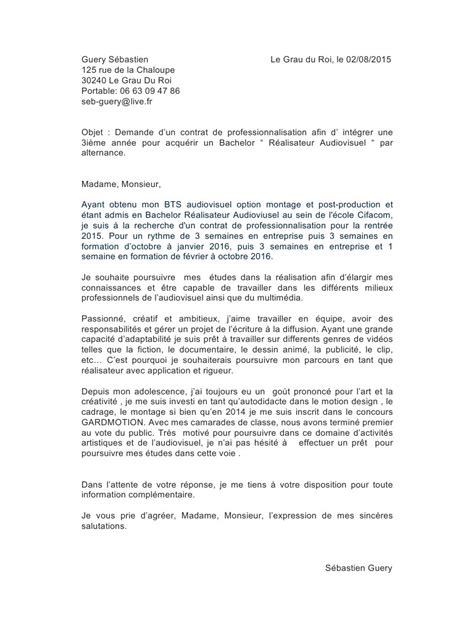 Lettre De Motivation école Audiovisuel Lettre De Motivation Docx S 233 Bastien Guery Lettre De Motivation Pdf Fichier Pdf