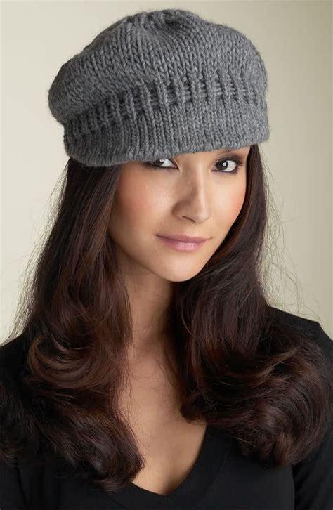 free hats knitting patterns knittinghelpcom newsboy knit hat pattern free anaf info for