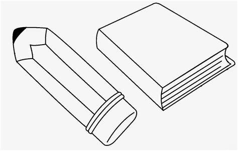 imagenes para colorear de un lapiz dibujos para colorear de un lapiz y un libro imagui