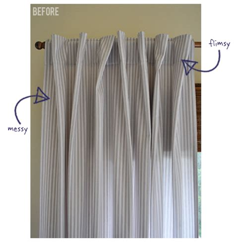 fold over curtains the painted hive how to create perfect looking curtain folds