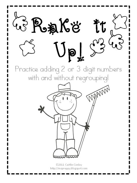 printable addition games with regrouping classroom freebies rake it up addition with and without