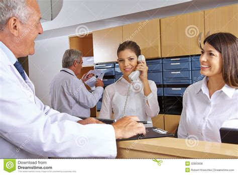 Hospital Receptionist by Busy Reception In A Hospital Royalty Free Stock Photos Image 32803938
