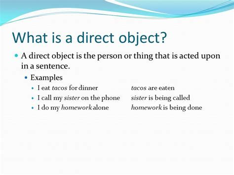 sentence pattern direct object direct object pronouns ppt video online download