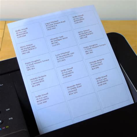 printer labels 21 per a4 sheet equivalent to avery l7160
