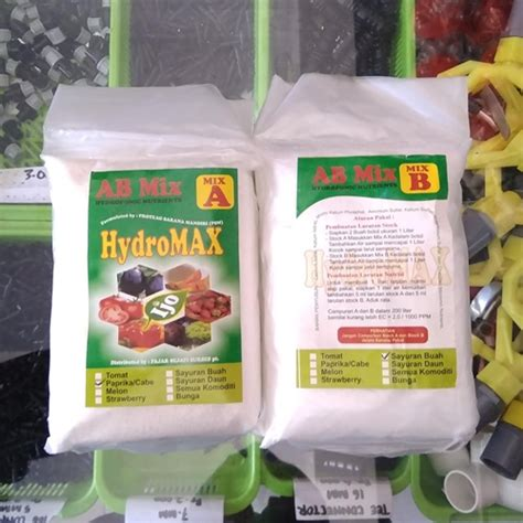 Nutrisi Ab Mix Hidroponik Sayur jual nutrisi hidroponik ab mix hydromax sayur buah 475