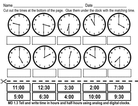 clock worksheets cut and paste images about horas on pinterest telling time clocks and