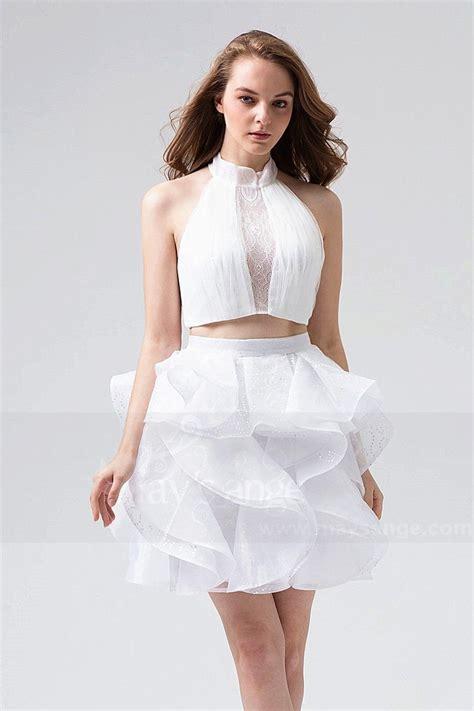 Robe De Cocktail Mariage Dentelle - robe cocktail blanche pour mariage dentelle bouffante en