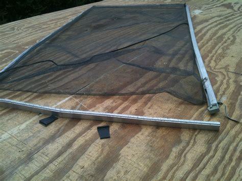 drapery repair replacing older bronze window screen frames and mesh in