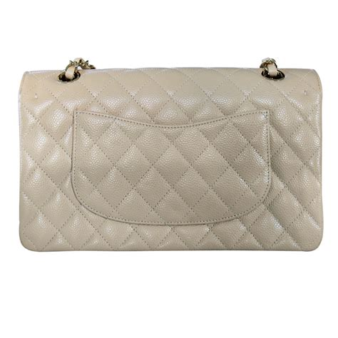 Chanel Flap Bag With Box 5018bsvc chanel medium beige flap caviar classic flap bag in box no 19