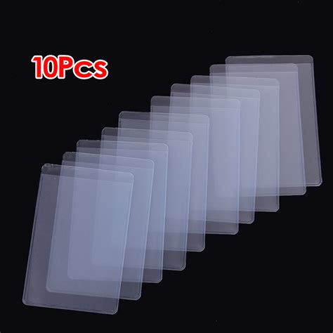plastic for 10pcs soft clear plastic card sleeves protectors for id