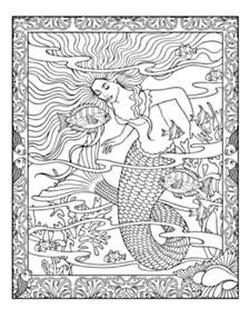 mythical mermaids coloring book coloring pages