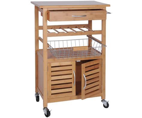 meuble de rangement cuisine a roulettes desserte de cuisine bambou massif meuble luxe a roulettes rangement cuisine 7800