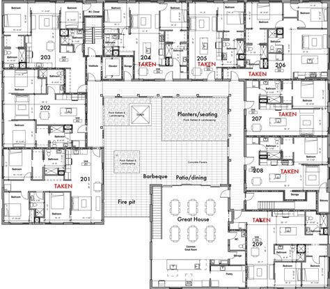 housing floor plans floor plans pdx commons cohousing