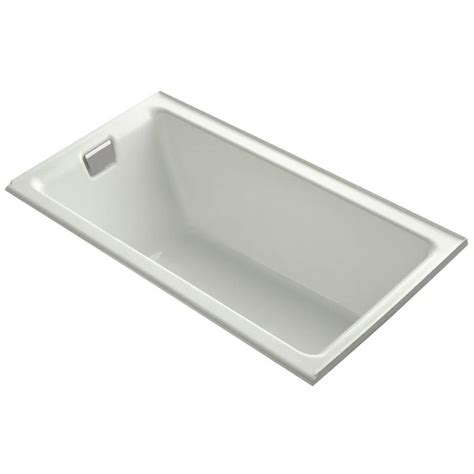 kohler bathtubs cast iron shop kohler tea for two dune cast iron rectangular alcove