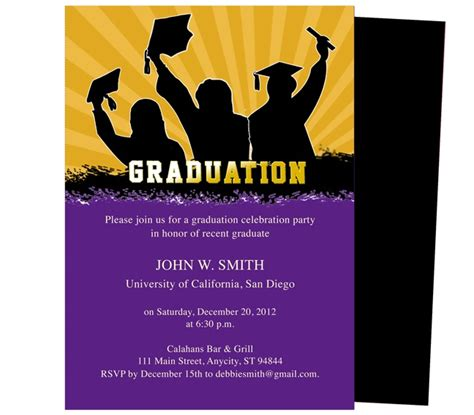 templates for graduation invitations best 46 printable diy graduation announcements templates