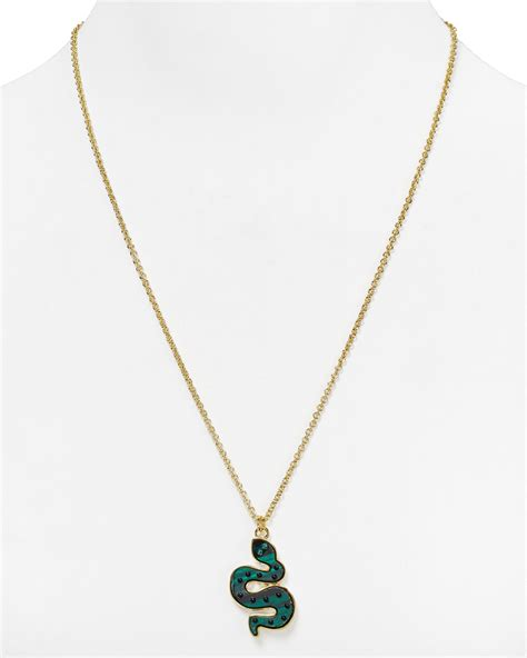 marc by marc squiggly snake pendant necklace 23 in
