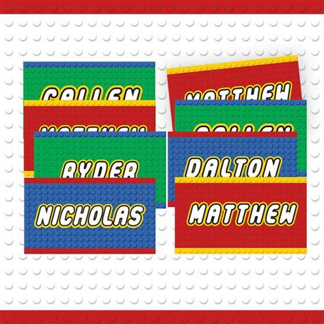 printable custom name tags building block party custom name tags 3 colors