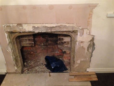 how to tidily restore a sandstone fireplace home