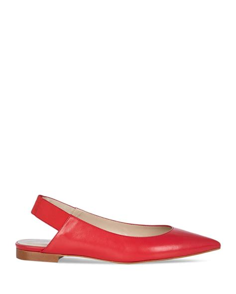 millen flat shoes lyst millen pointed flats leather slingback in