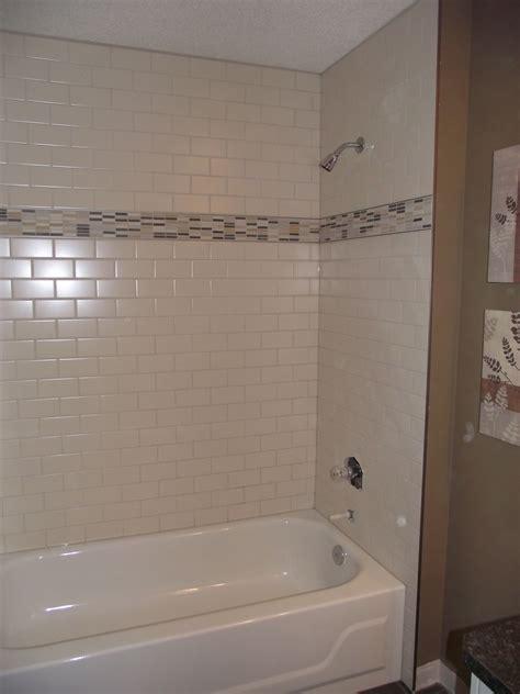 Bathroom Tile Trim Ideas by Bathroom White Subway Tile Tub Surround Offset
