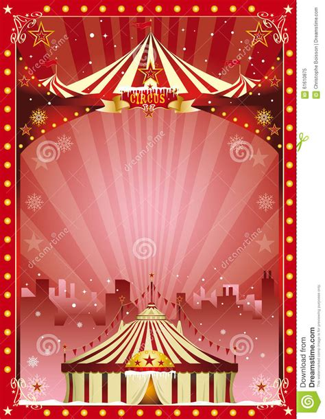 poster christmas circus city show stock photo image