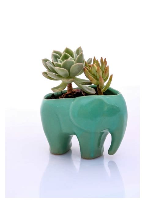 elephant wall planter elephant planter elephant decor ceramic planter
